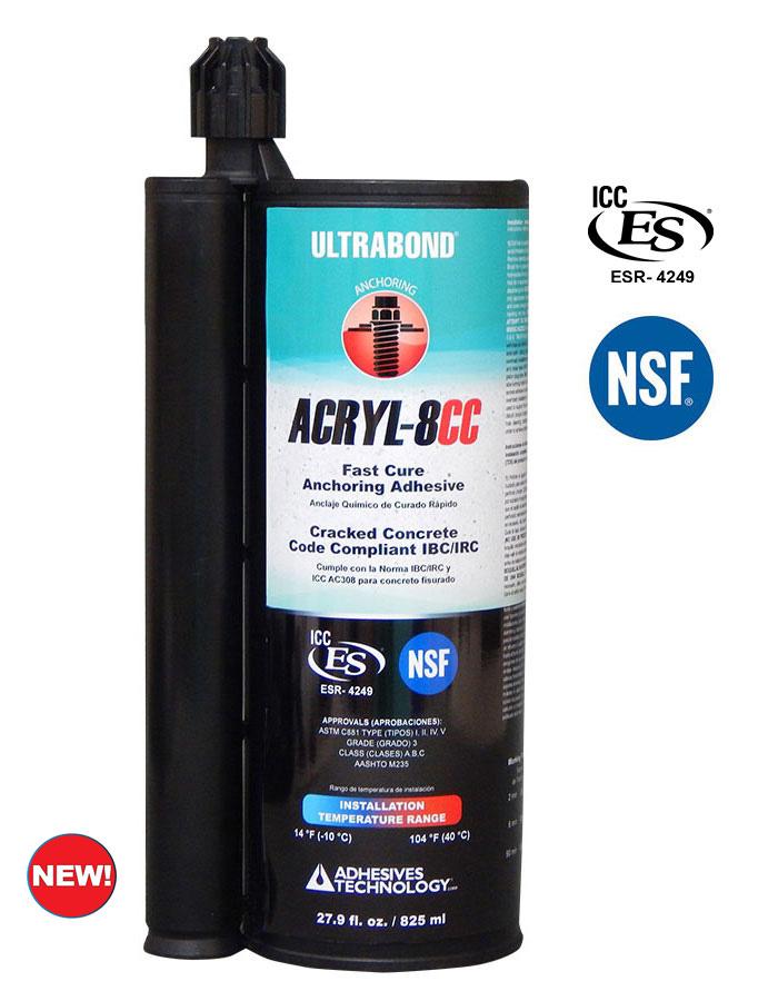 ACRYL-8CC adhesive anchoring system