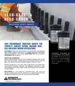 Crackbond Accu-Grout & Accu-Chock